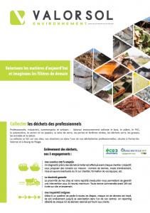 Image de couverture de la brochure Valorsol environnement