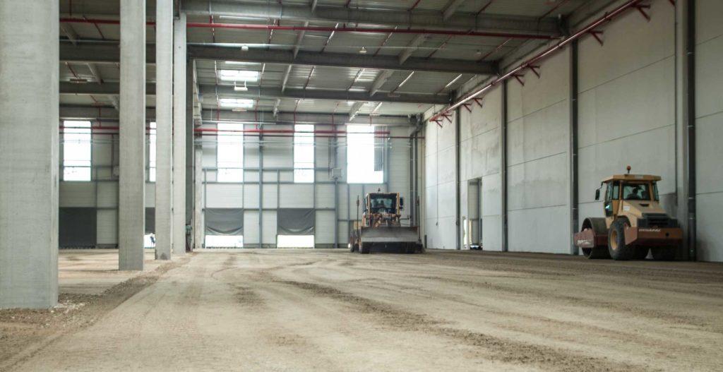 Réalisation de terrassement par Cheval TP sur le chantier d'Allo Pneu.