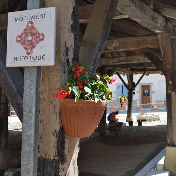 Rénovation entourant un monument historique dans la commune du Grand Serre