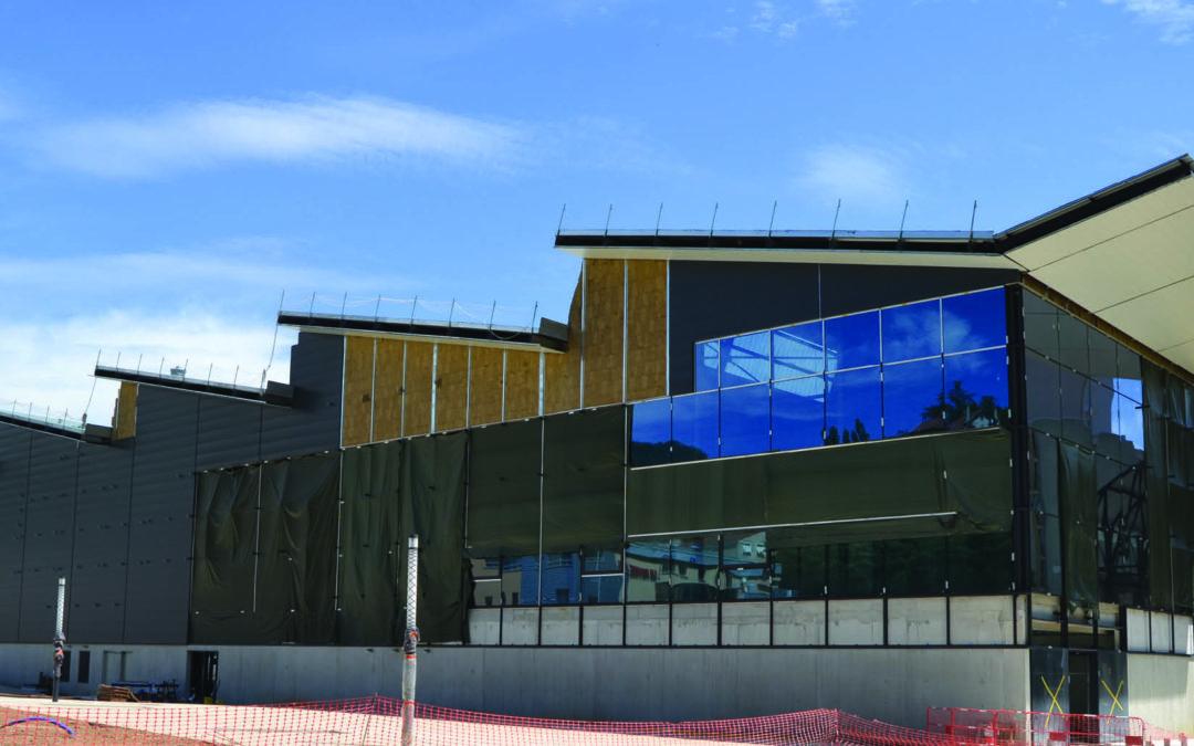 Chantier d'enrobés atypique, le parking souterrain du nouveau Super U d'Annonay